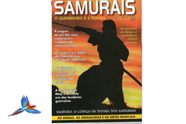 Samurai japanes warrior cover of magazine
